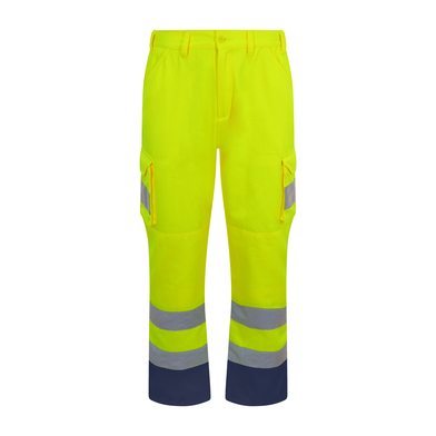 Cargo Trousers In HV Yellow