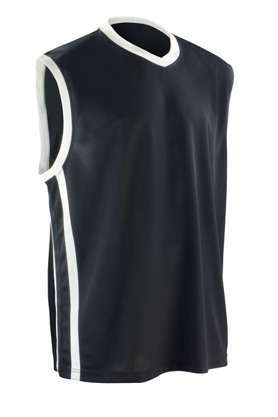 Basketball Quick-dry Top In Black/White