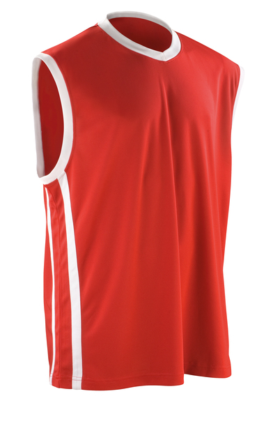 Basketball Quick-dry Top In Red/White