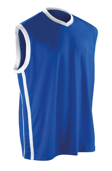 Basketball Quick-dry Top In Royal/White