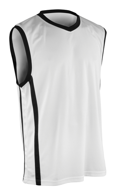 Basketball Quick-dry Top In White/Black