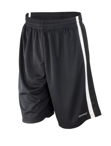 Basketball Quick-dry Shorts In Black/White