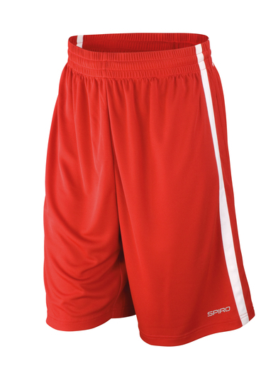 Basketball Quick-dry Shorts In Red/White