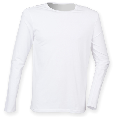 Feel Good Long Sleeved Stretch T-shirt In White