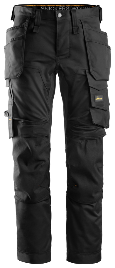 AllroundWork Stretch Trousers Holster Pockets In Black