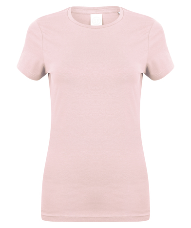 Feel Good Women's Stretch T-shirt In Baby Pink