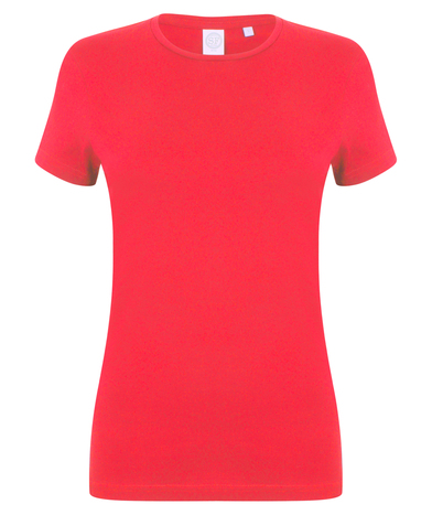 Feel Good Women's Stretch T-shirt In Bright Red