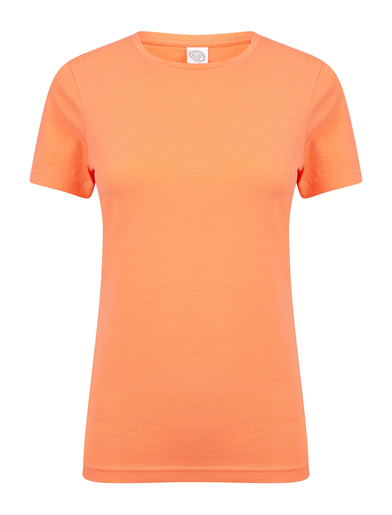 Feel Good Women's Stretch T-shirt In Coral