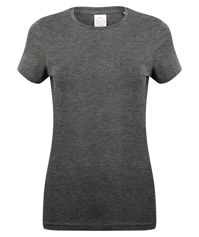 Feel Good Women's Stretch T-shirt In Heather Charcoal