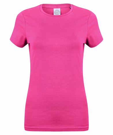 Feel Good Women's Stretch T-shirt In Heather Pink