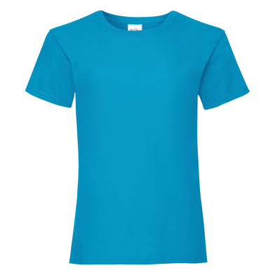 Girls Valueweight T In Azure Blue
