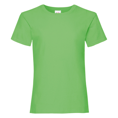 Girls Valueweight T In Lime