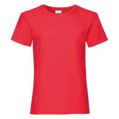 Girls Valueweight T In Red
