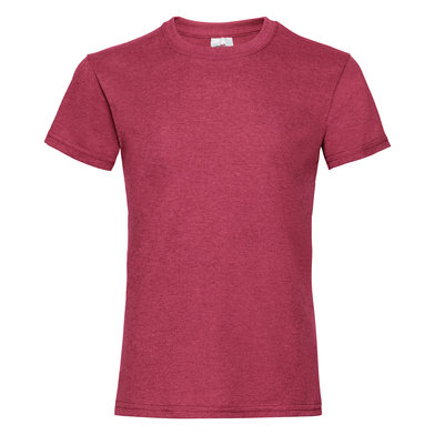 Girls Valueweight T In Vintage Heather Red