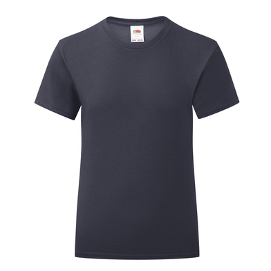 Girls Iconic T In Deep Navy