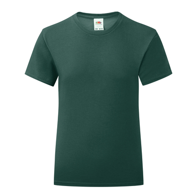 Girls Iconic T In Forest Green