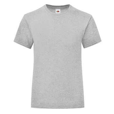 Girls Iconic T In Heather Grey