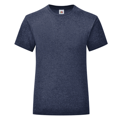 Girls Iconic T In Heather Navy