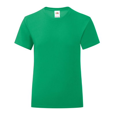 Girls Iconic T In Kelly Green