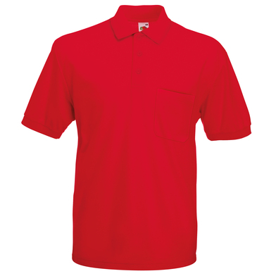 65/35 Pocket Polo In Red