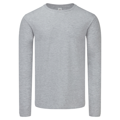 Iconic 150 Classic Long Sleeve T In Heather Grey