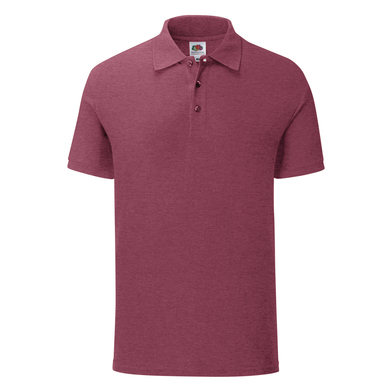 Iconic Polo In Heather Burgundy