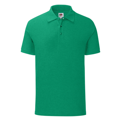 Iconic Polo In Heather Green
