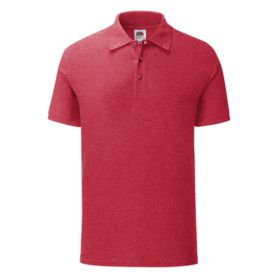 Iconic Polo In Heather Red