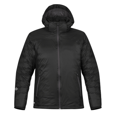 Black Ice Thermal Jacket In Black/Dolphin