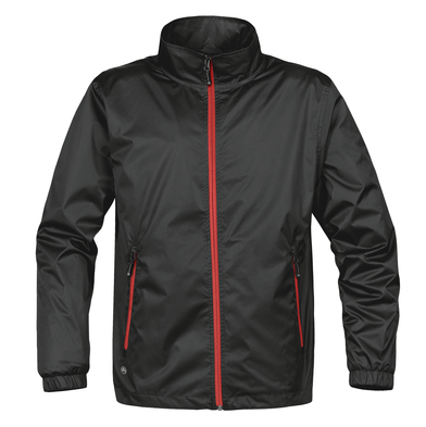 Axis Shell Jacket In Black/Red