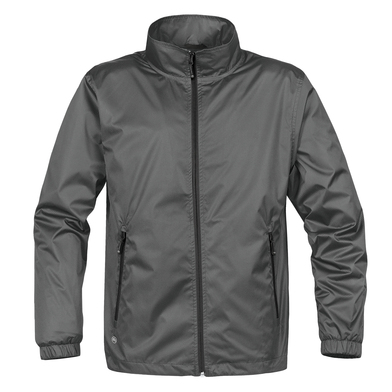 Axis Shell Jacket In Grey/Black
