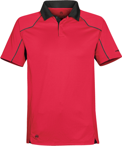 Crossover Performance Polo In Scarlet Red/Black