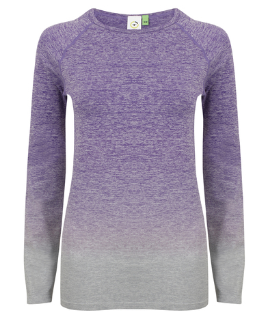 Tombo - Women's Seamless Fade Out Long Sleeve Top