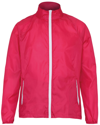 Contrast Lightweight Jacket In Hot Pink/White