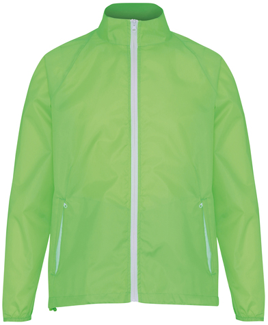 Contrast Lightweight Jacket In Lime/White