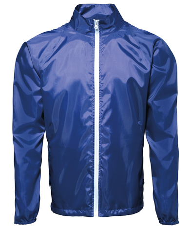 Contrast Lightweight Jacket In Royal/White