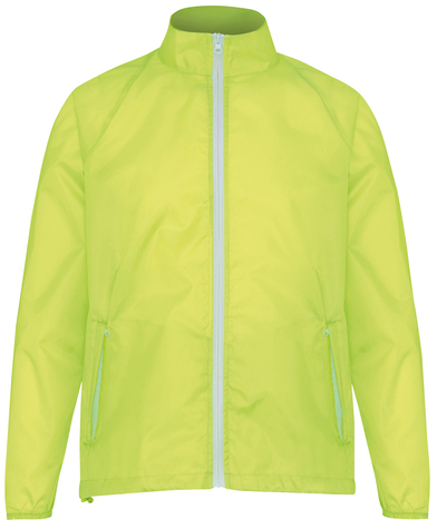 Contrast Lightweight Jacket In Yellow/White