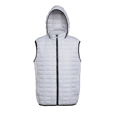 Honeycomb Hooded Gilet In White