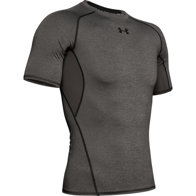 HeatGear Armour Short Sleeve Compression Shirt In Carbon Heather