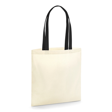 EarthAware� Organic Bag For Life - Contrast Handles In Natural / Black
