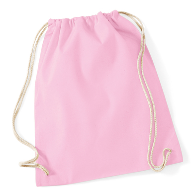 Cotton Gymsac In Classic Pink/White
