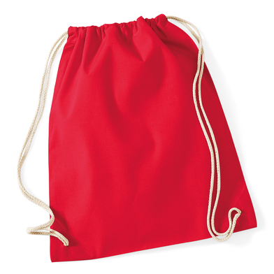 Cotton Gymsac In Classic Red
