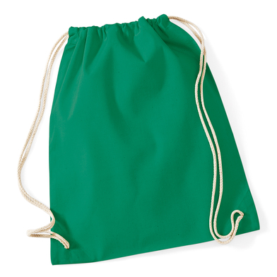Cotton Gymsac In Kelly Green