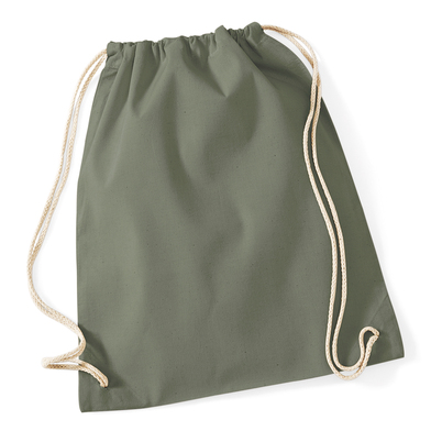 Cotton Gymsac In Olive Green