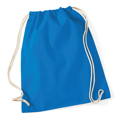 Cotton Gymsac In Sapphire Blue*