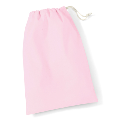 Cotton Stuff Bag In Classic Pink