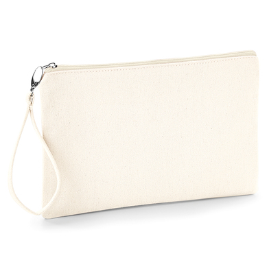 Canvas Wristlet Pouch In Natural / Natural