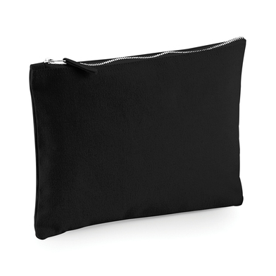 Canvas Accessory Pouch In Black
