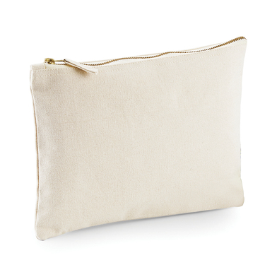 Canvas Accessory Pouch In Natural