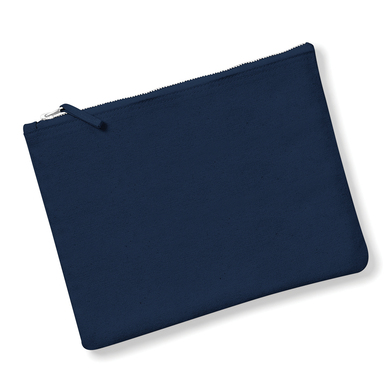 Canvas Accessory Pouch In Navy